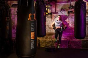 Boston portrait of a female boxer