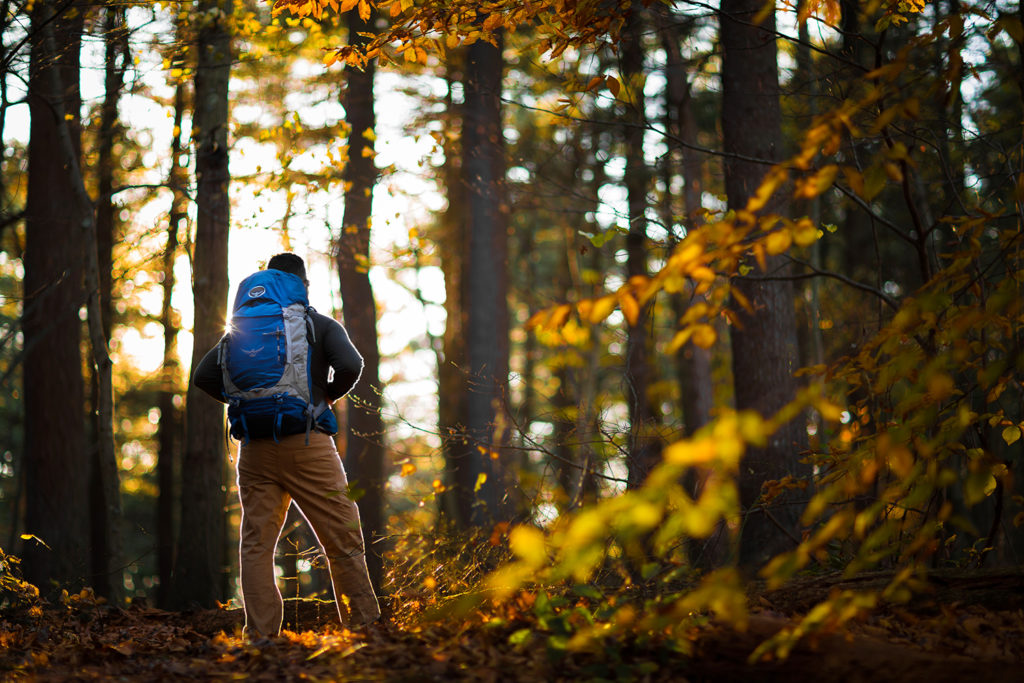 osprey backpack in massachuestts new hampshire vermont photographed by boston outdoor adventure photographer nicole loeb
