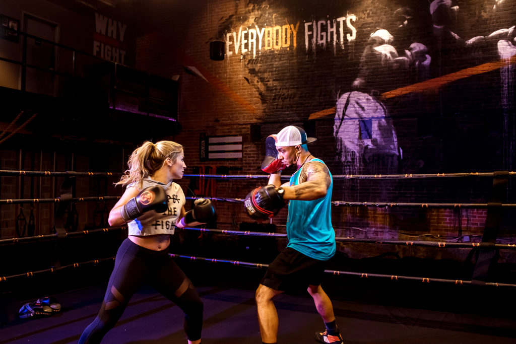 female boxer trains for Haymakers of Hope at Everybody Fights gym photographed by Boston fitness photographer nicole loeb