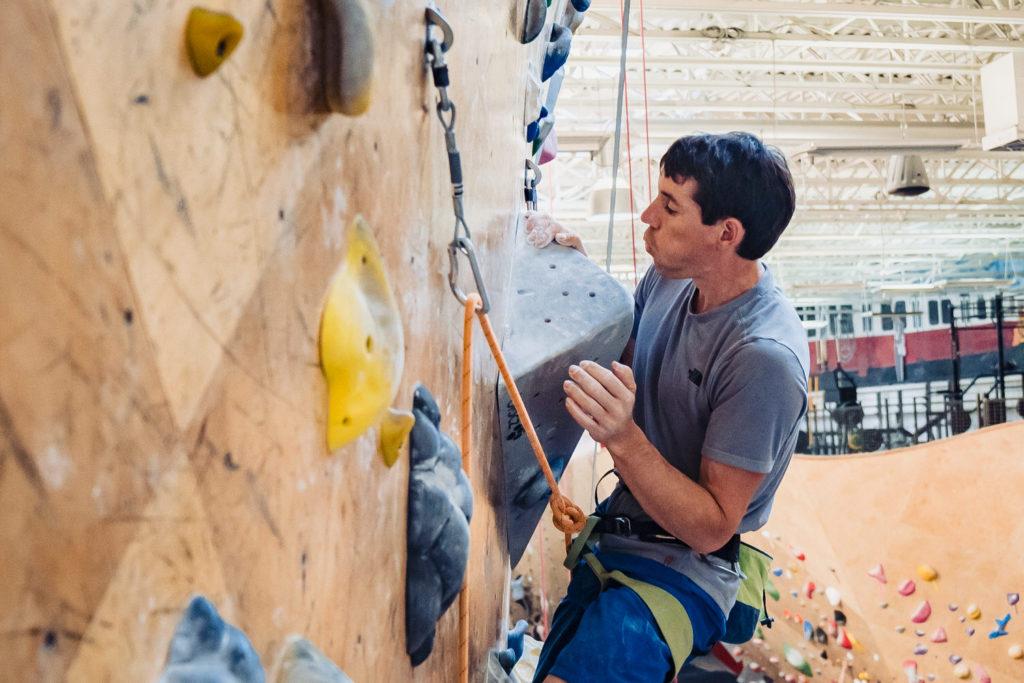 Boston Fitness Photographer Nicole Loeb photographs Alex Honnold at Brooklyn Boulders - Free Solo rock climber El Capitan in Yosemite